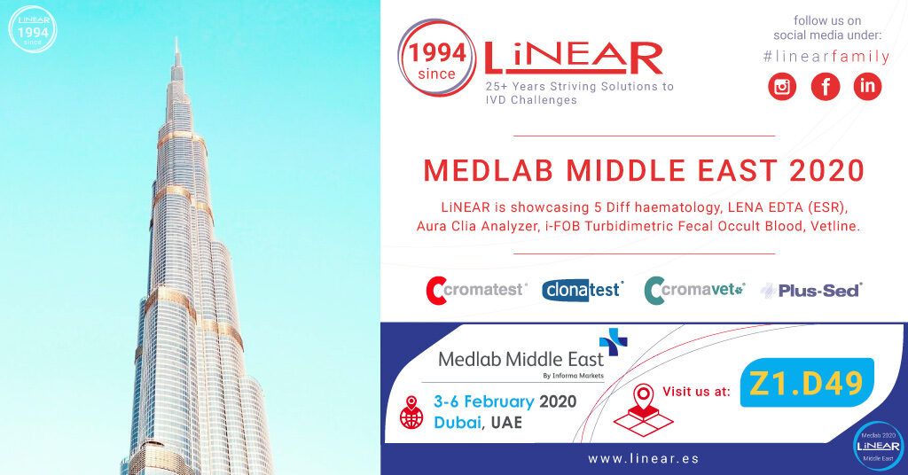 LINEAR in Medlab Middle East 2020, Dubai